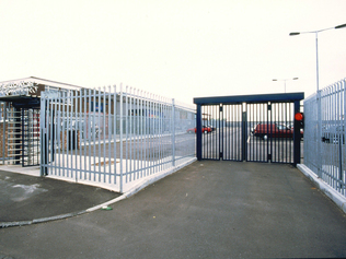 Car park gate installed