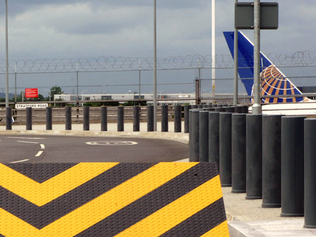 CSG 10800 Static Bollards installed at an airport