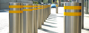CSG 10800  Fixed bollards withstanding impacts of up to 40mph and 50mph