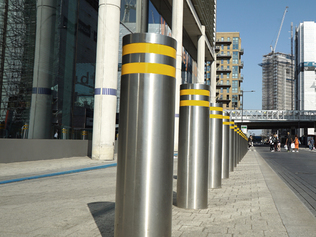 Cova Security Gates 10800 Series Bollards Crash Tested to PAS68