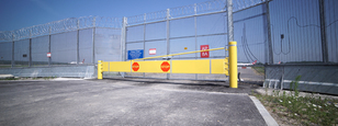 CSG 10900 Manual Barrier that protects multi-use spaces from vehicles