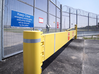 Miti-gate®  Manual Barrier that protects multi-use spaces from vehicles - CSG 10900