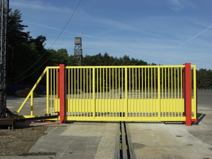 Crash tested gate before